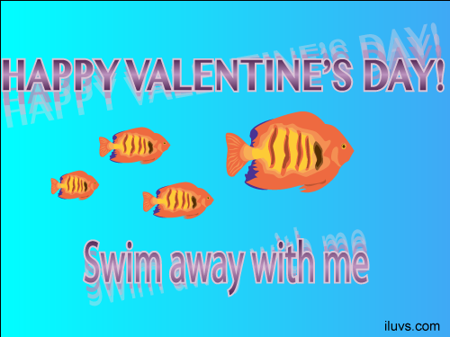 swim with me valentine Swim Away with Me Free Ecard