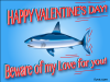 thumbs beware love shark Free Valentine Ecards