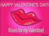 thumbs kisses for valentine Free Valentine Ecards