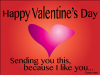 thumbs like you valentine Free Valentine Ecards