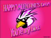 thumbs my love bird Free Valentine Ecards