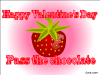 thumbs pass choco valentine Free Valentine Ecards