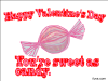 thumbs swee candy valentine Free Valentine Ecards