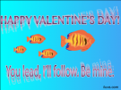 Be Mine Fish Valentines Free ECard